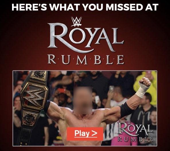 WWEネットワークからのネタバレメール