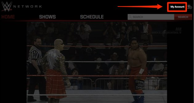 WWEネットワーク、トップページ